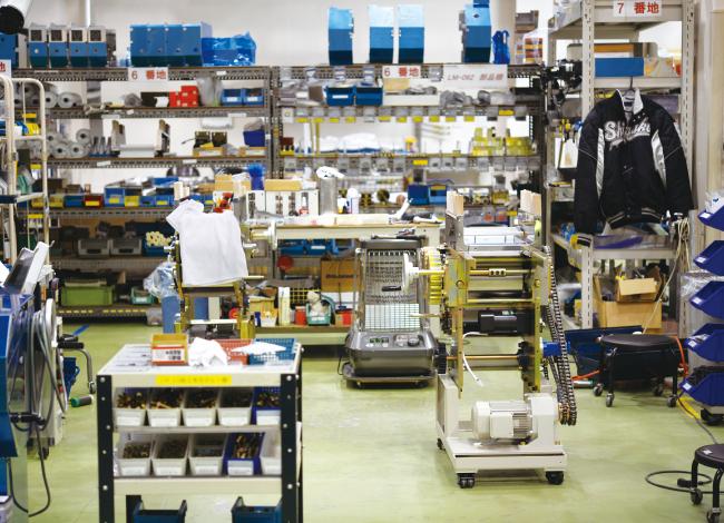 整理整頓された工場。